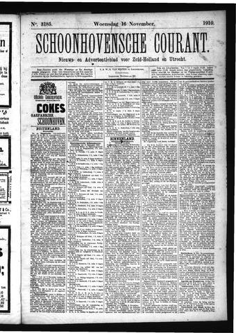 Schoonhovensche Courant 1910-11-16
