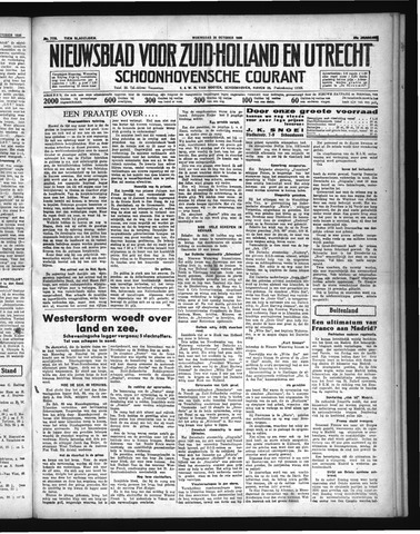 Schoonhovensche Courant 1936-10-28