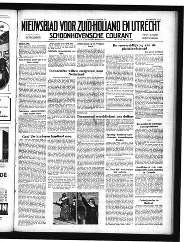 Schoonhovensche Courant 1950-02-20