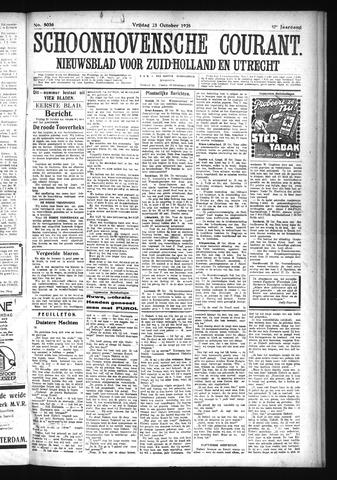 Schoonhovensche Courant 1925-10-23