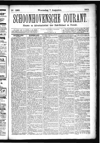 Schoonhovensche Courant 1912-08-07