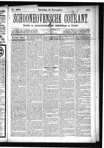 Schoonhovensche Courant 1911-11-25