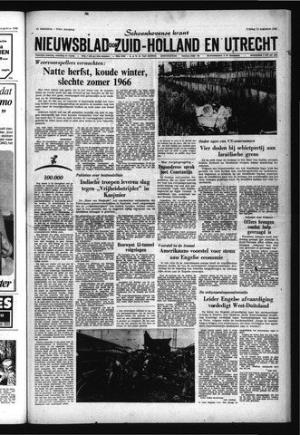 Schoonhovensche Courant 1965-08-13