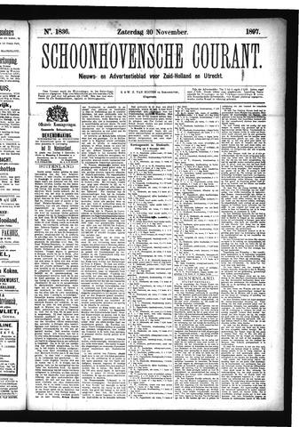 Schoonhovensche Courant 1897-11-20