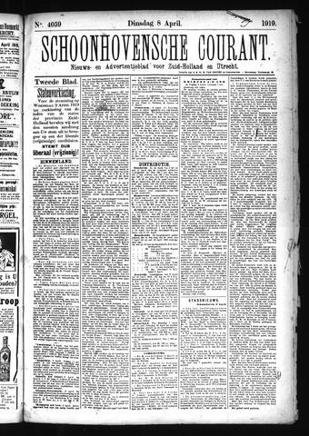 Schoonhovensche Courant 1919-04-08