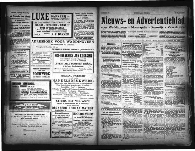 Advertentieblad Waddinxveen 1916-06-10