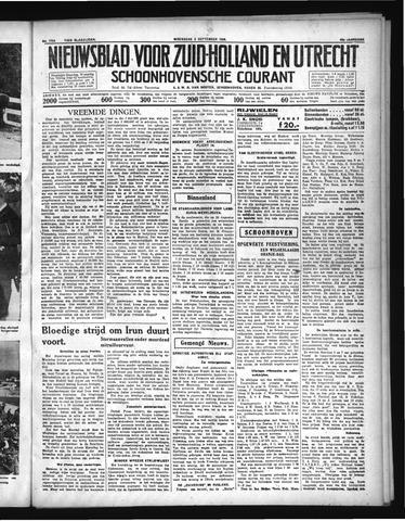 Schoonhovensche Courant 1936-09-02