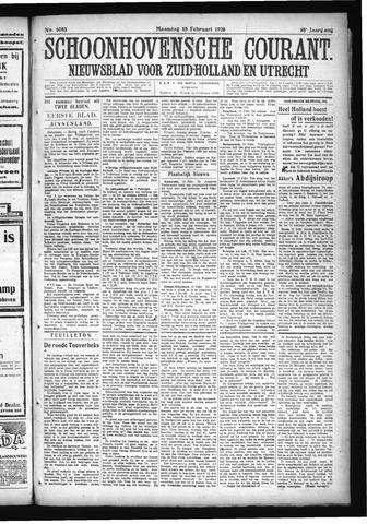 Schoonhovensche Courant 1926-02-15