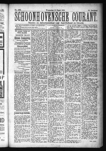 Schoonhovensche Courant 1922-03-22