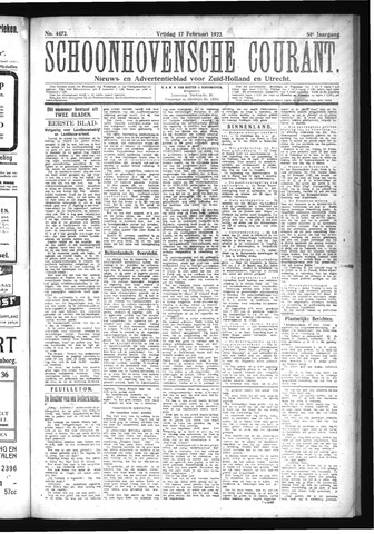 Schoonhovensche Courant 1922-02-17