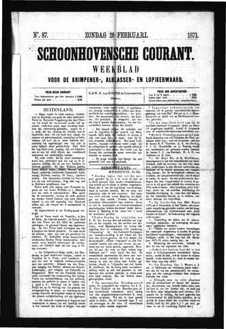 Schoonhovensche Courant 1871-02-26
