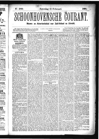 Schoonhovensche Courant 1898-02-12