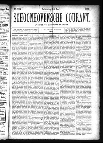 Schoonhovensche Courant 1888-06-23