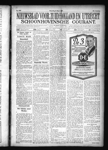 Schoonhovensche Courant 1928-03-21
