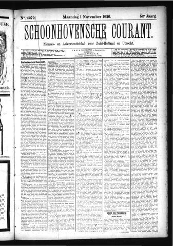 Schoonhovensche Courant 1920-11-01