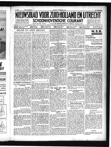Schoonhovensche Courant 1939-02-27