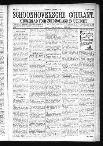 Schoonhovensche Courant 1927-01-07