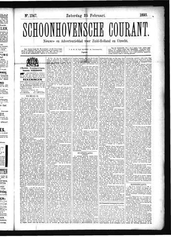 Schoonhovensche Courant 1893-02-25