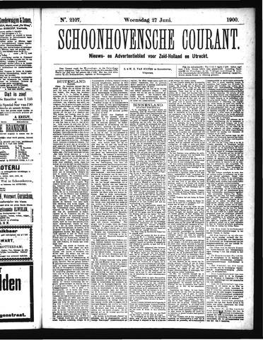 Schoonhovensche Courant 1900-06-27