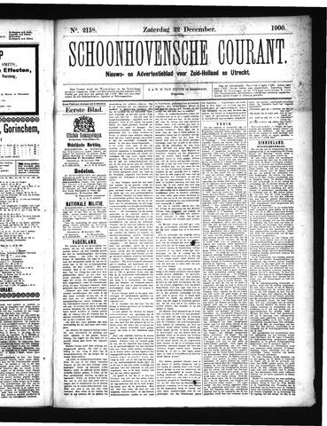 Schoonhovensche Courant 1900-12-22