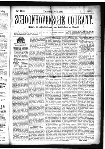 Schoonhovensche Courant 1895-03-16