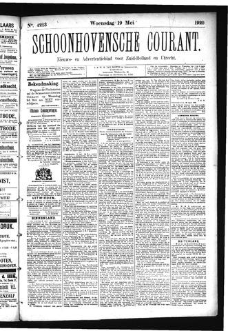 Schoonhovensche Courant 1920-05-19