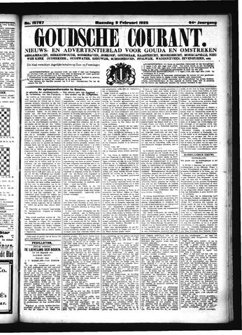 Goudsche Courant 1925-02-09