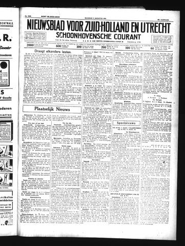 Schoonhovensche Courant 1934-08-06