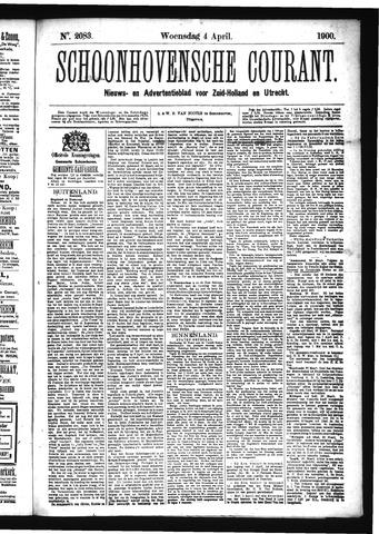 Schoonhovensche Courant 1900-04-04