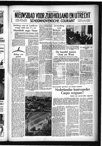 Schoonhovensche Courant 1954-12-01