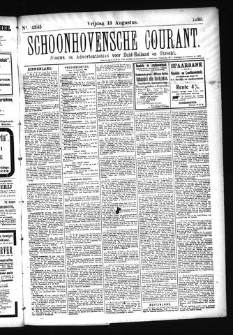 Schoonhovensche Courant 1920-08-13