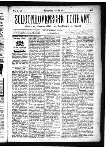 Schoonhovensche Courant 1910-06-25