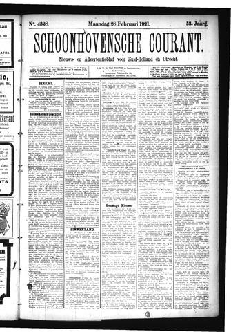 Schoonhovensche Courant 1921-02-28