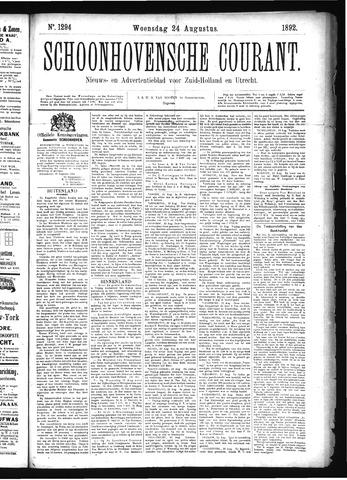 Schoonhovensche Courant 1892-08-24