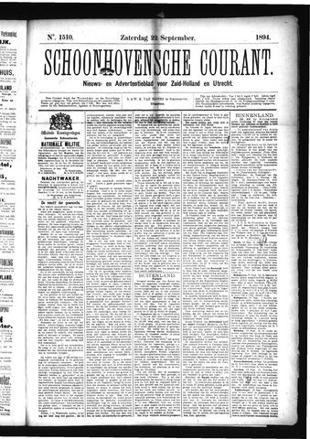 Schoonhovensche Courant 1894-09-22