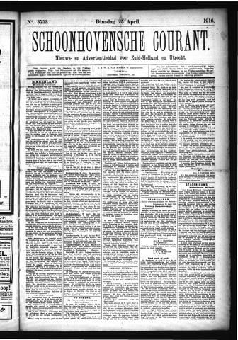 Schoonhovensche Courant 1916-04-25