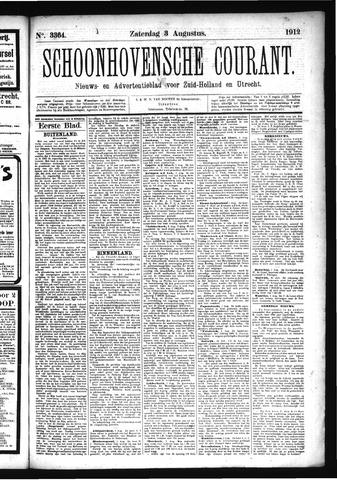 Schoonhovensche Courant 1912-08-03