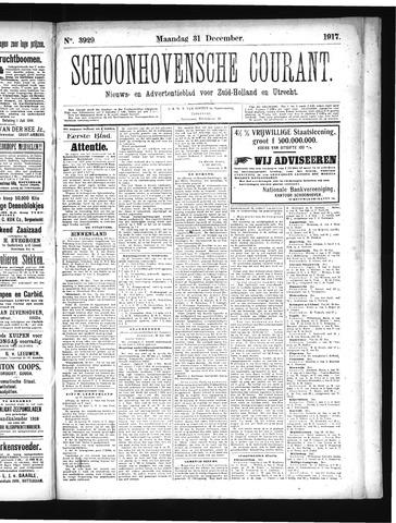 Schoonhovensche Courant 1917-12-31