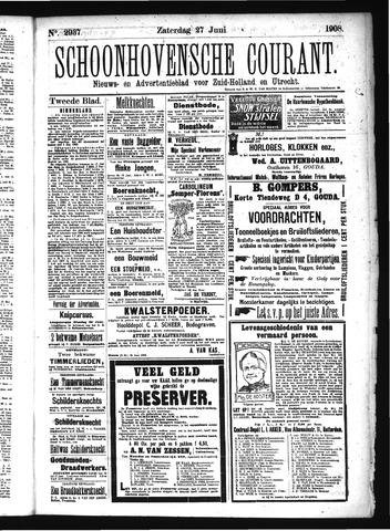 Schoonhovensche Courant 1908-06-27