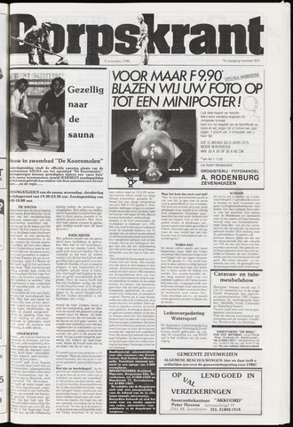 Dorpskrant 1986-11-05
