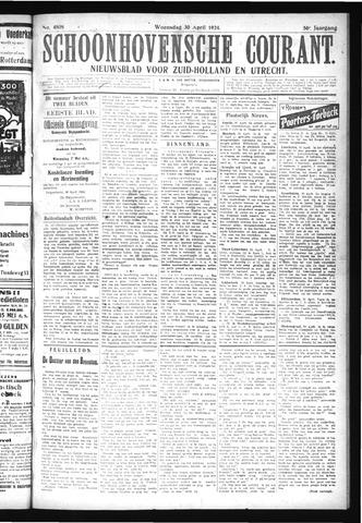 Schoonhovensche Courant 1924-04-30