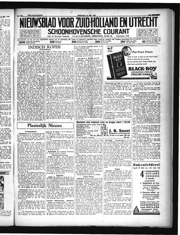 Schoonhovensche Courant 1935-05-29