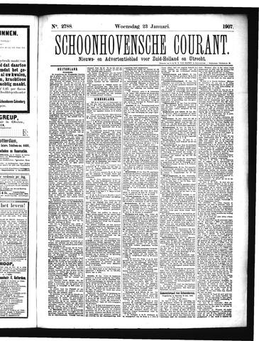 Schoonhovensche Courant 1907-01-23