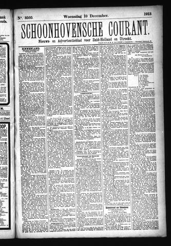 Schoonhovensche Courant 1913-12-10
