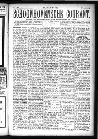 Schoonhovensche Courant 1922-05-01