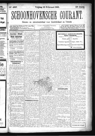 Schoonhovensche Courant 1921-02-25