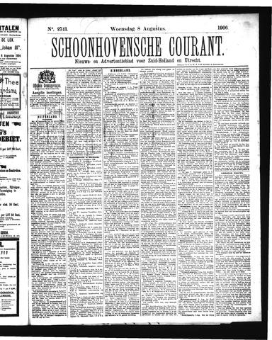 Schoonhovensche Courant 1906-08-08