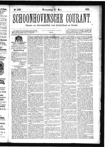 Schoonhovensche Courant 1891-05-27