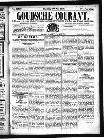 Goudsche Courant 1918-07-29