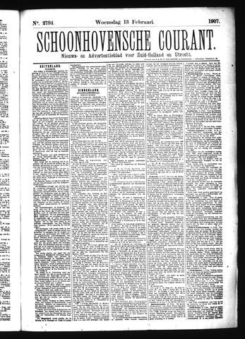 Schoonhovensche Courant 1907-02-13